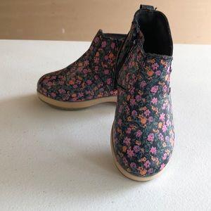 Floral Osh Kosh booties
